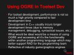 using ogre in toolset dev1