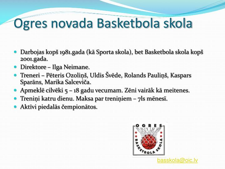 Ogres novada Basketbola skola