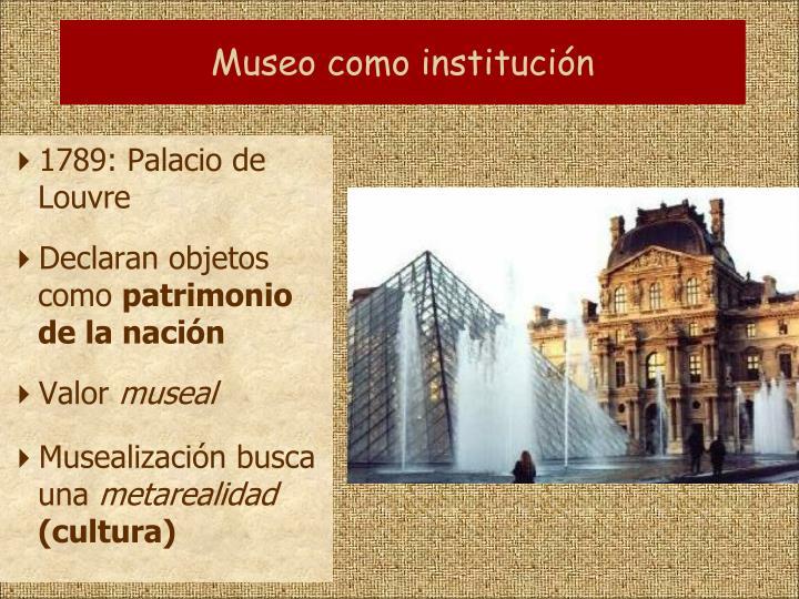 Museo como institución
