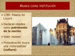 museo como instituci n