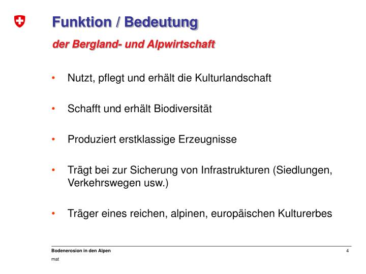 Funktion / Bedeutung