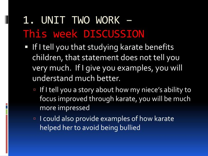 1. UNIT TWO WORK –