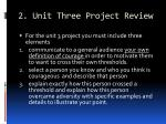 2 unit three project review