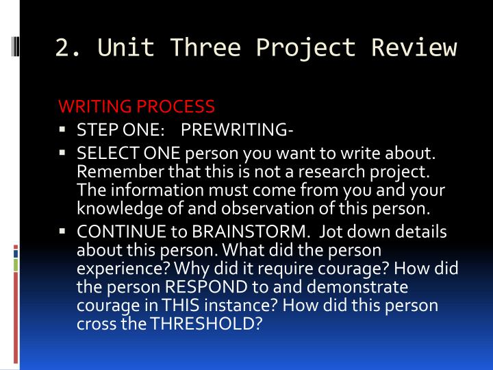2. Unit Three Project Review