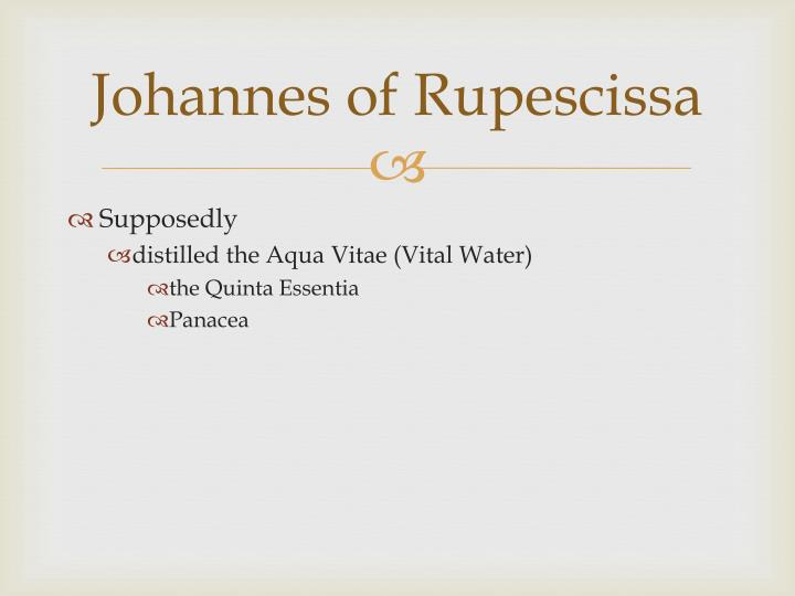 Johannes of Rupescissa