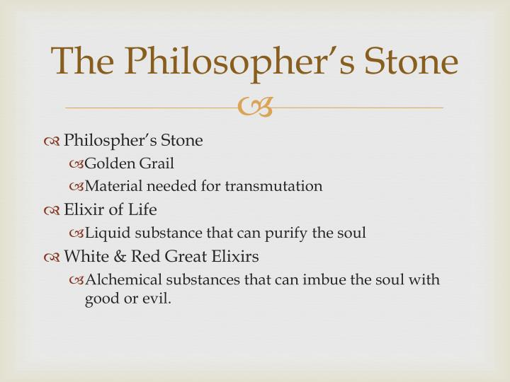 The philosopher s stone