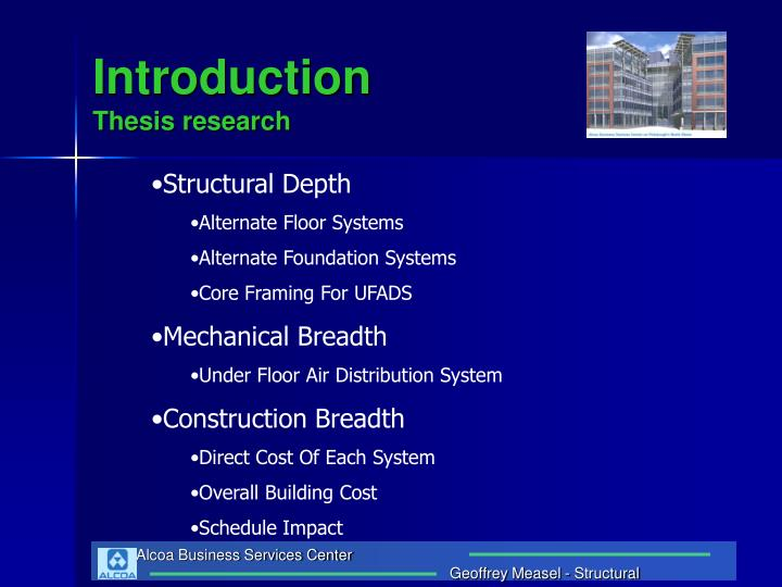 Introduction thesis research