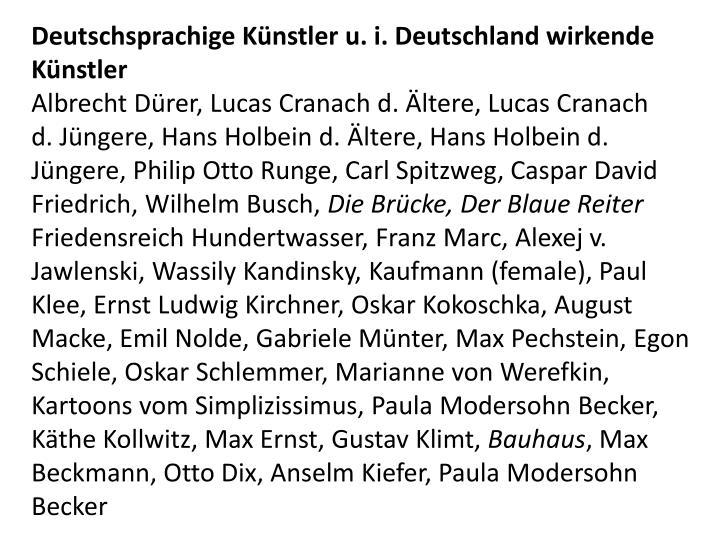 Deutschsprachige Künstler