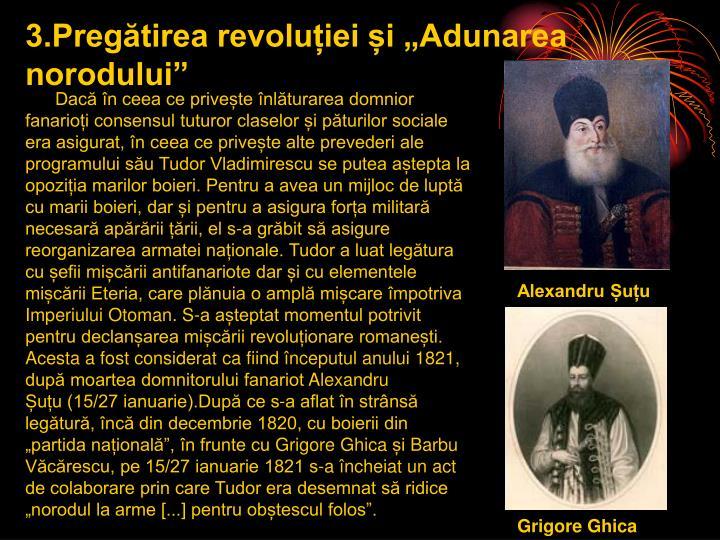 """3.Pregătirea revoluției și """"Adunarea norodului"""""""