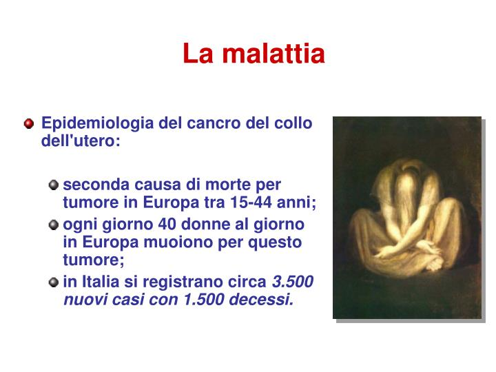 Epidemiologia del cancro del collo dell'utero: