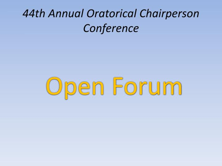 44th Annual Oratorical Chairperson Conference