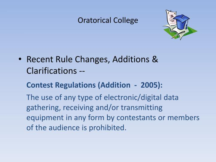 Oratorical College