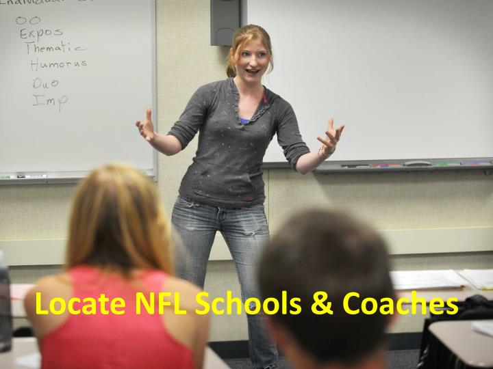 Locate NFL Schools & Coaches
