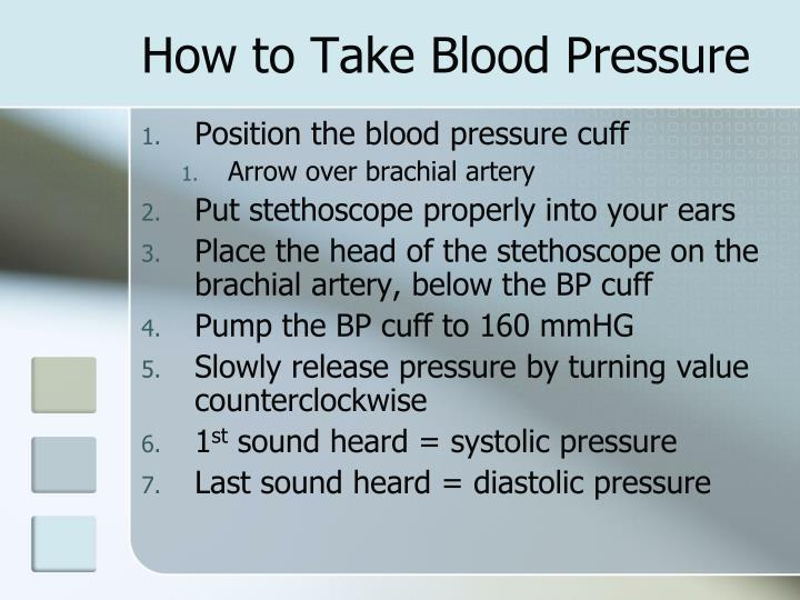 How to Take Blood Pressure
