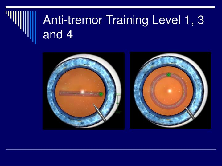Anti-tremor Training Level 1, 3 and 4