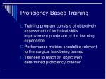 proficiency based training