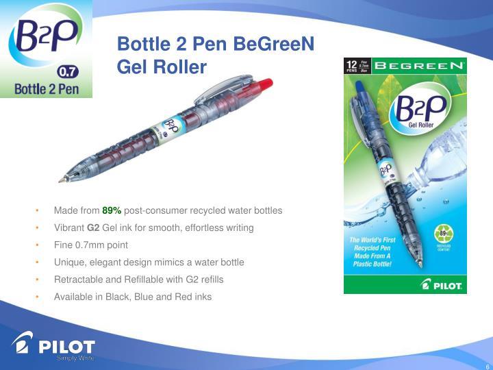 Bottle 2 Pen BeGreeN Gel Roller