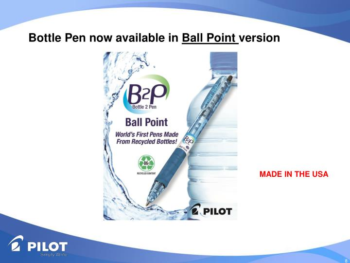 Bottle Pen now available in