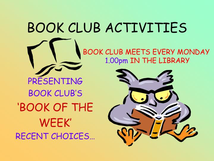 Book club activities