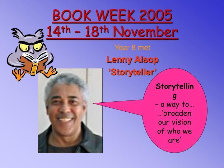 BOOK WEEK 2005