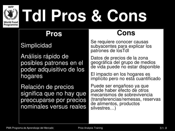 TdI Pros & Cons