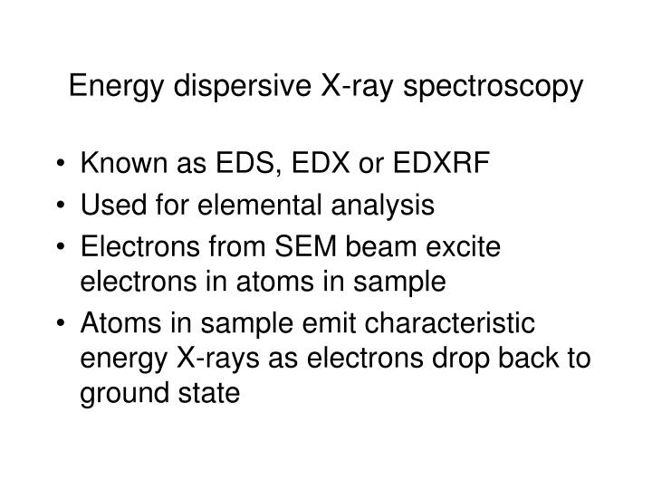 Energy dispersive X-ray spectroscopy