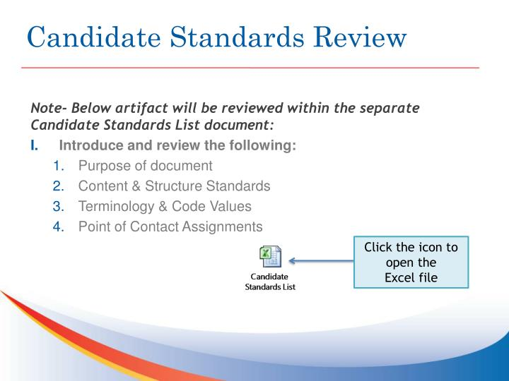 Candidate Standards Review
