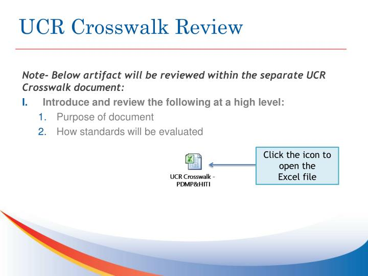 UCR Crosswalk Review