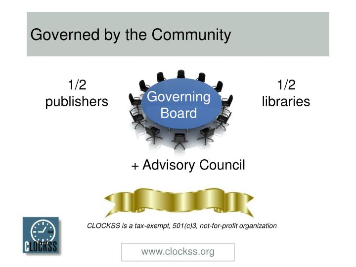 Governed by the Community