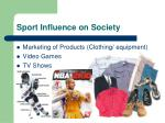 sport influence on society