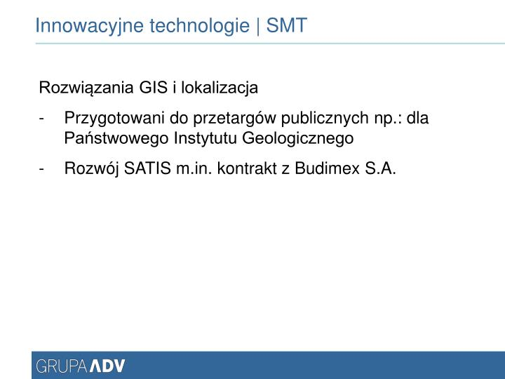 Innowacyjne technologie | SMT