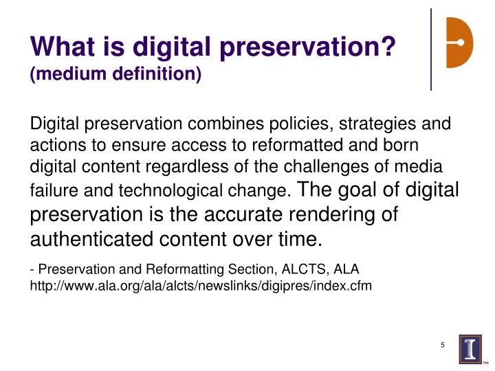 PPT - Digital Preservation: Introduction and Case Study ...