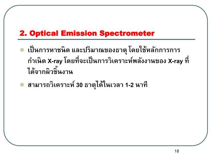 2. Optical Emission Spectrometer