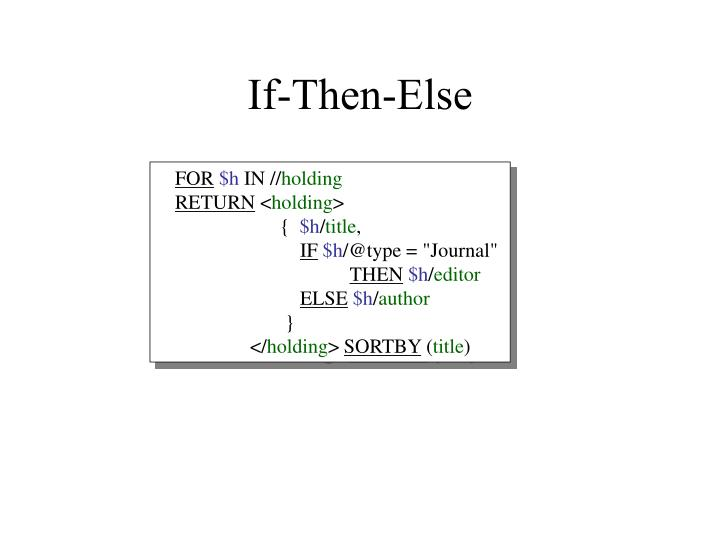 If-Then-Else