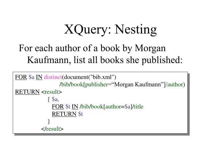 XQuery: Nesting