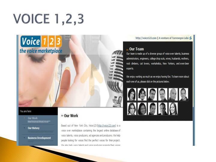 VOICE 1,2,3