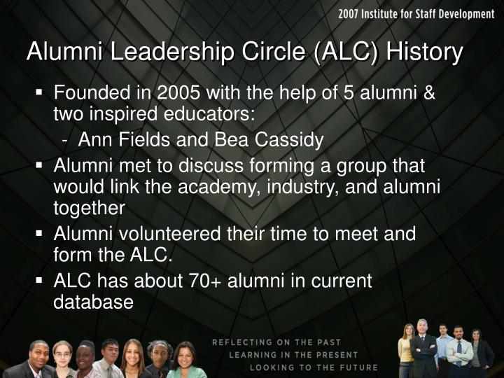 Alumni Leadership Circle (ALC) History