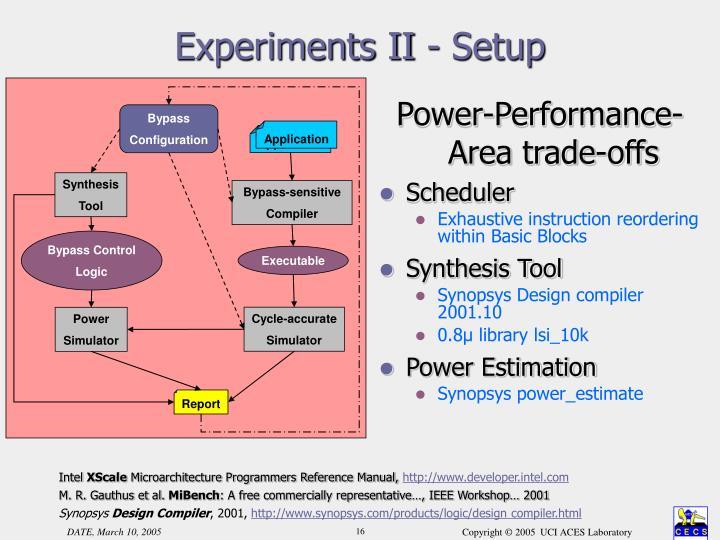 Experiments II - Setup