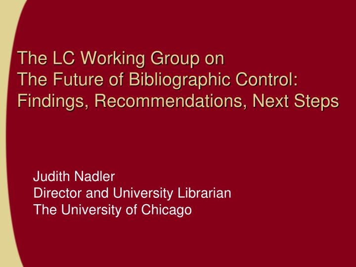 university of chicago question why nader