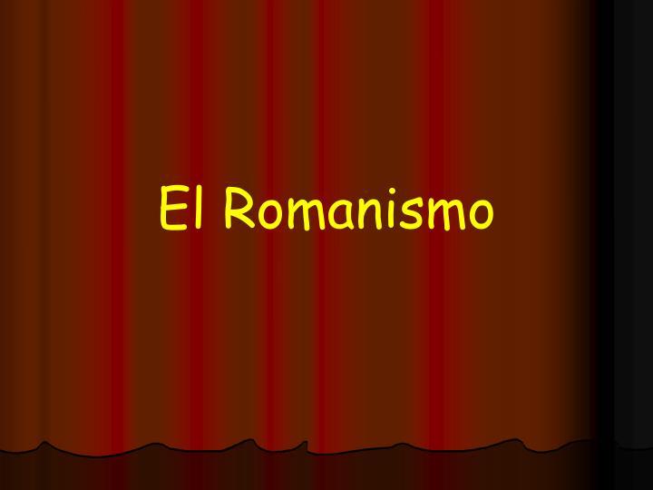 El Romanismo