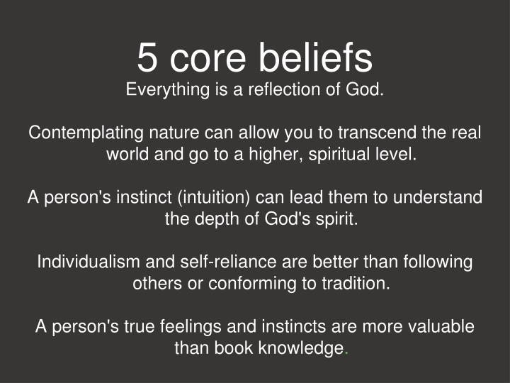 5 core beliefs