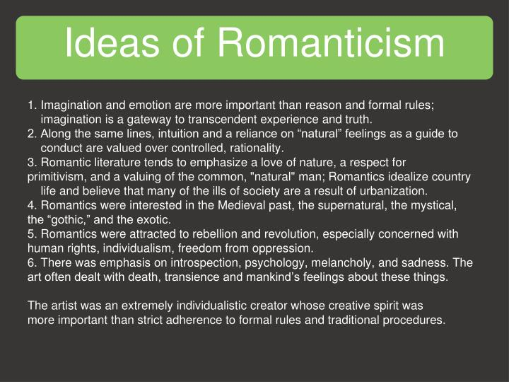 Ideas of romanticism