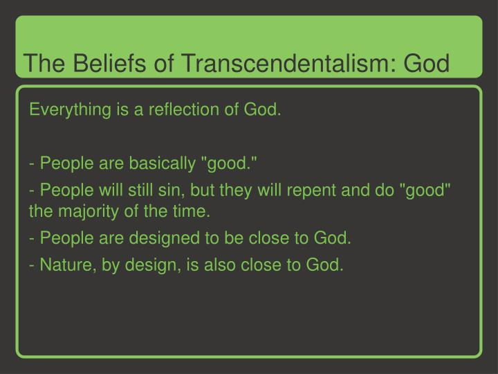 The Beliefs of Transcendentalism: God