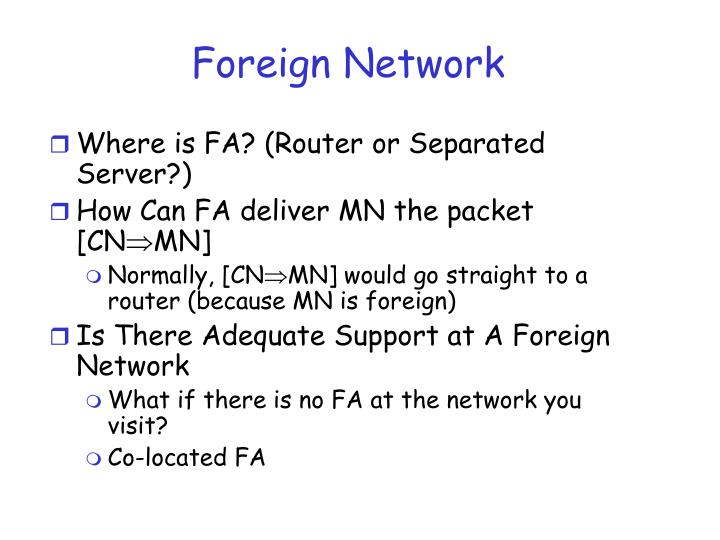Foreign Network