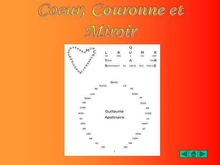Coeur, Couronne et