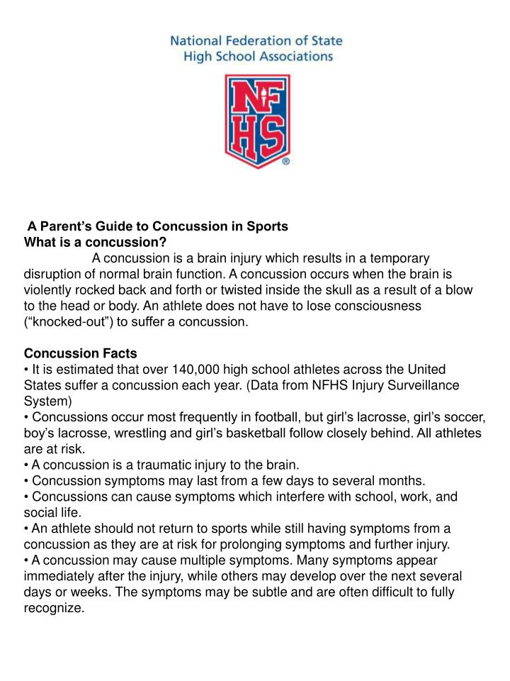 A Parent's Guide to Concussion in Sports