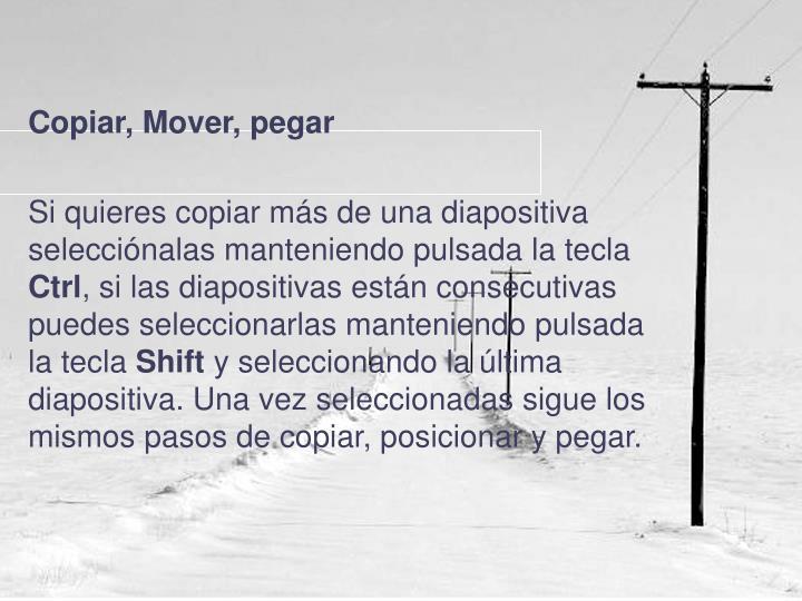 Copiar, Mover, pegar