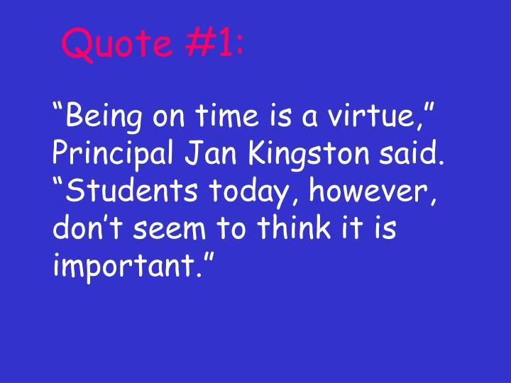 Quote #1: