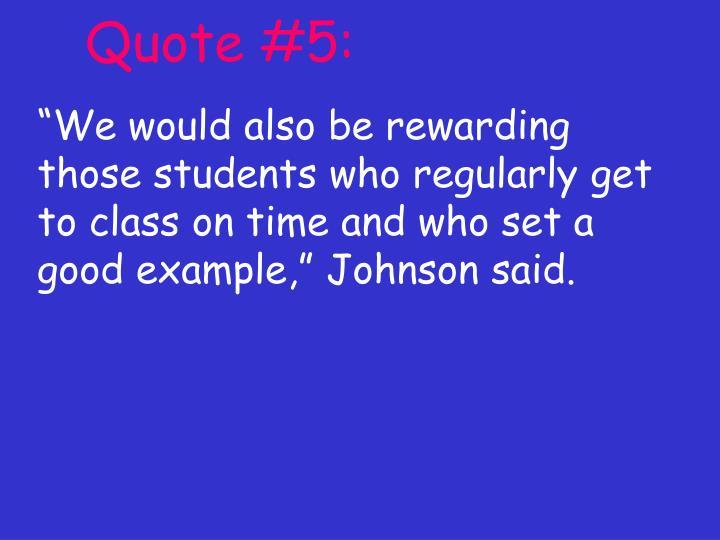Quote #5:
