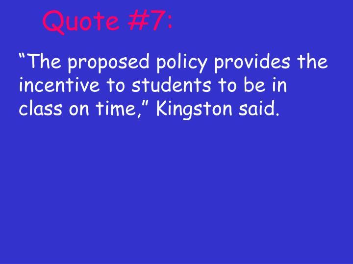Quote #7: